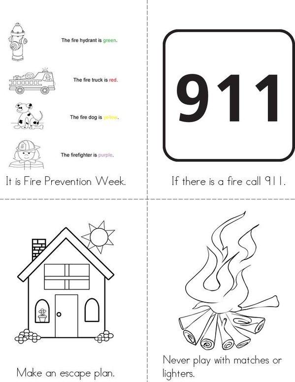 Fire Prevention Week Book Twisty