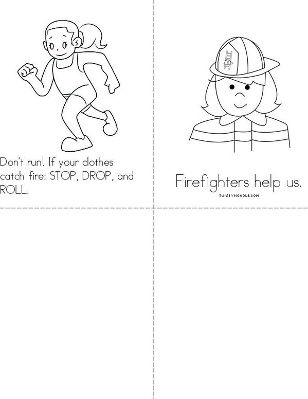 Fire Prevention Week Mini Book - Sheet 2