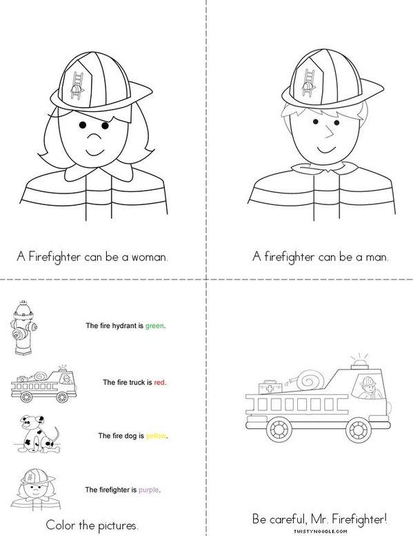 Firefighting Mini Book