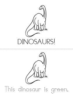 Dinosaur Colors Book