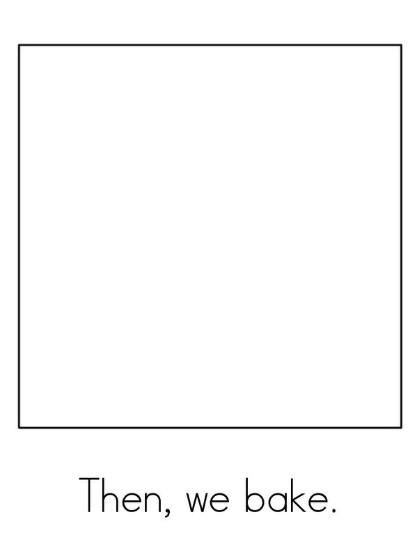 I Can Make a Gingerbread Man! Mini Book - Sheet 4