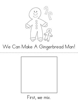 I Can Make a Gingerbread Man! Book