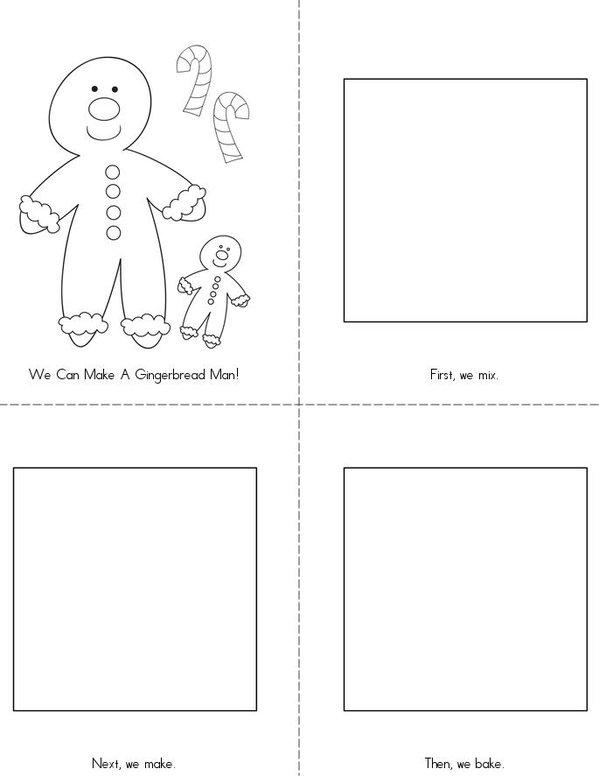 I Can Make a Gingerbread Man! Mini Book - Sheet 1