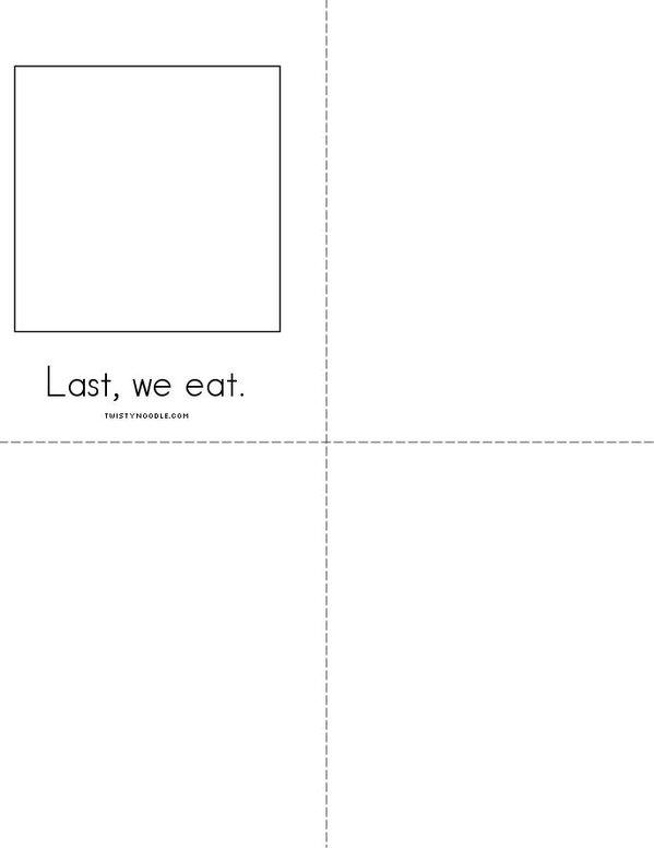 I Can Make a Gingerbread Man! Mini Book - Sheet 2