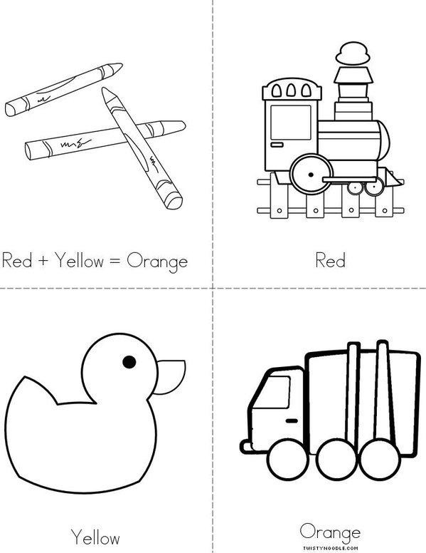 Red + yellow = orange Mini Book