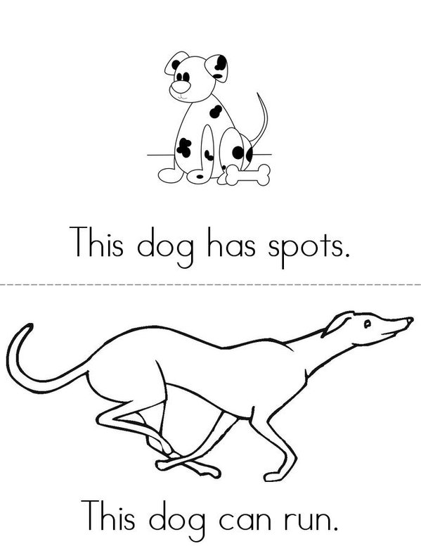 This Dog Mini Book - Sheet 2