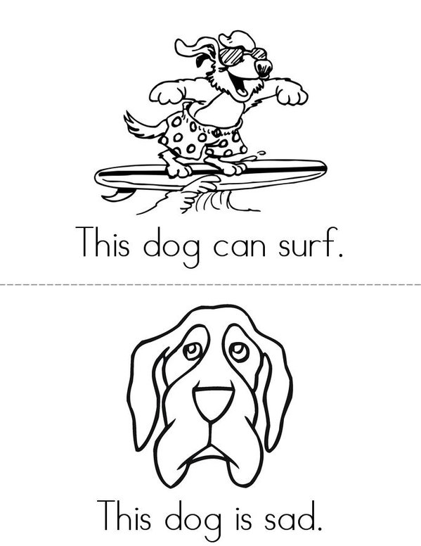 This Dog Mini Book - Sheet 3