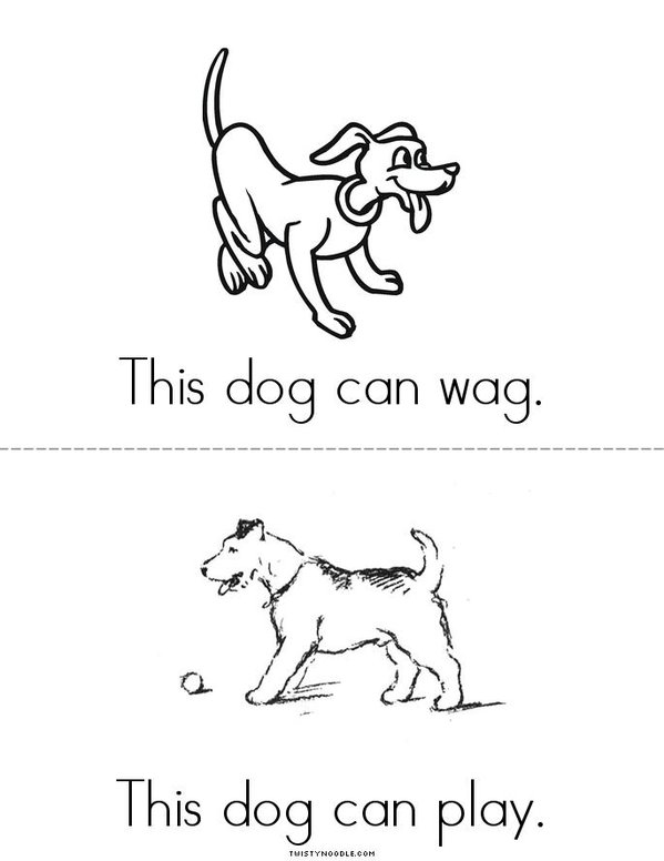 This Dog Mini Book - Sheet 4