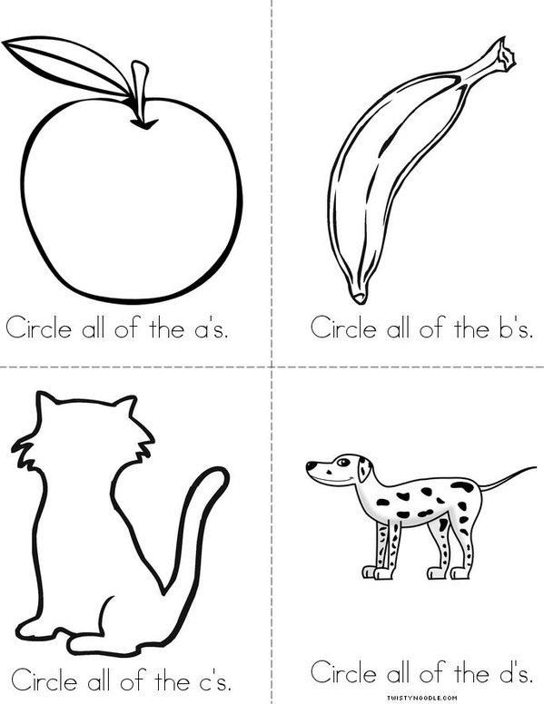 a,b,c,d Mini Book