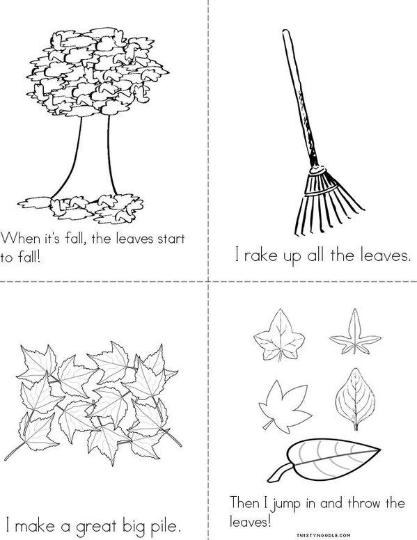 I Love Leaves Mini Book