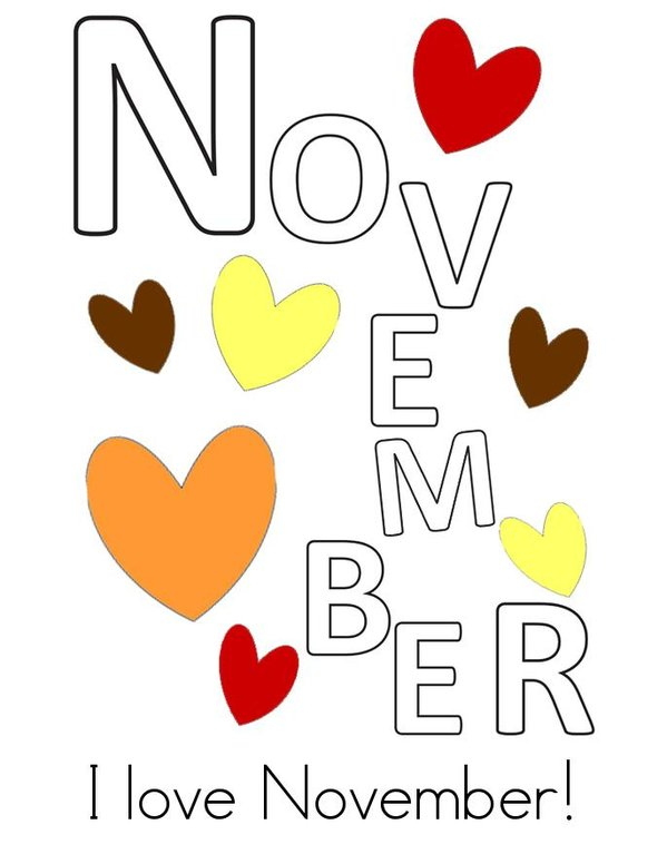 Hello November Book - Twisty Noodle