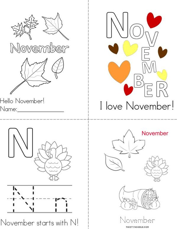 Hello November! Mini Book