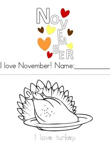 I Love November! Book