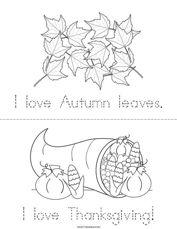 I Love November! Mini Book - Sheet 2