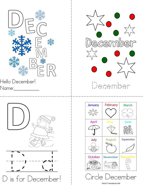 Hello December! Mini Book