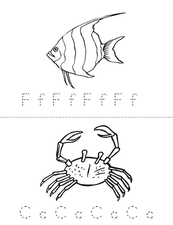 Sea Life Adventure Mini Book - Sheet 1