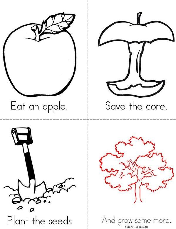 Apple Poem Mini Book
