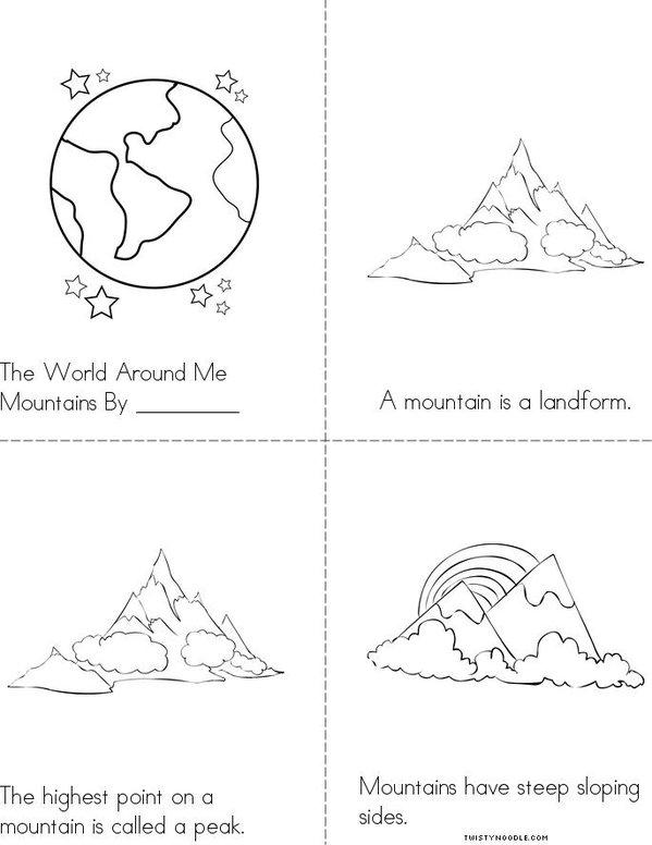 Mountains Mini Book