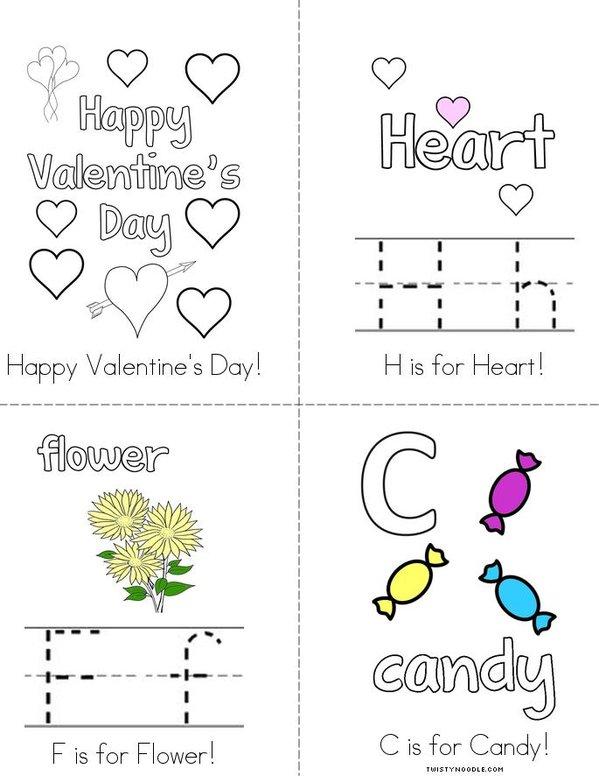 V is for Valentine's Day! Mini Book