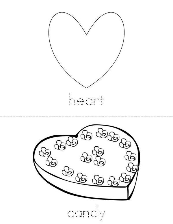 Valentine Vocabulary Mini Book - Sheet 1