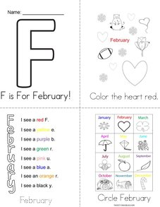 F is for February! Book