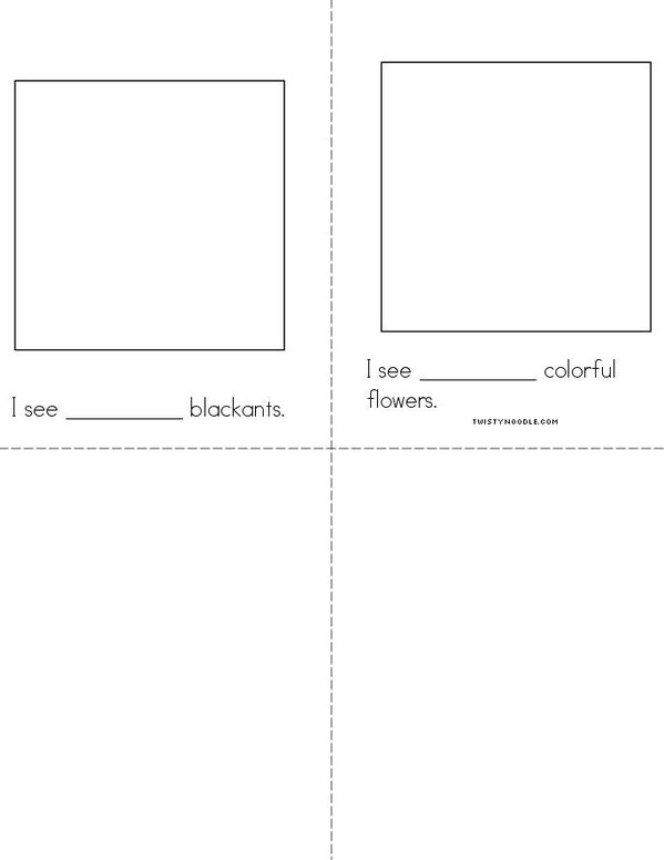 My Book of Number Words Mini Book - Sheet 3
