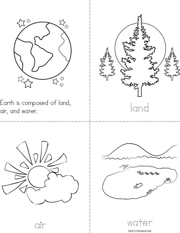 Land, Air, and Water Book - Twisty Noodle