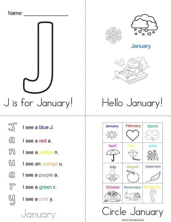 Hello January! Mini Book