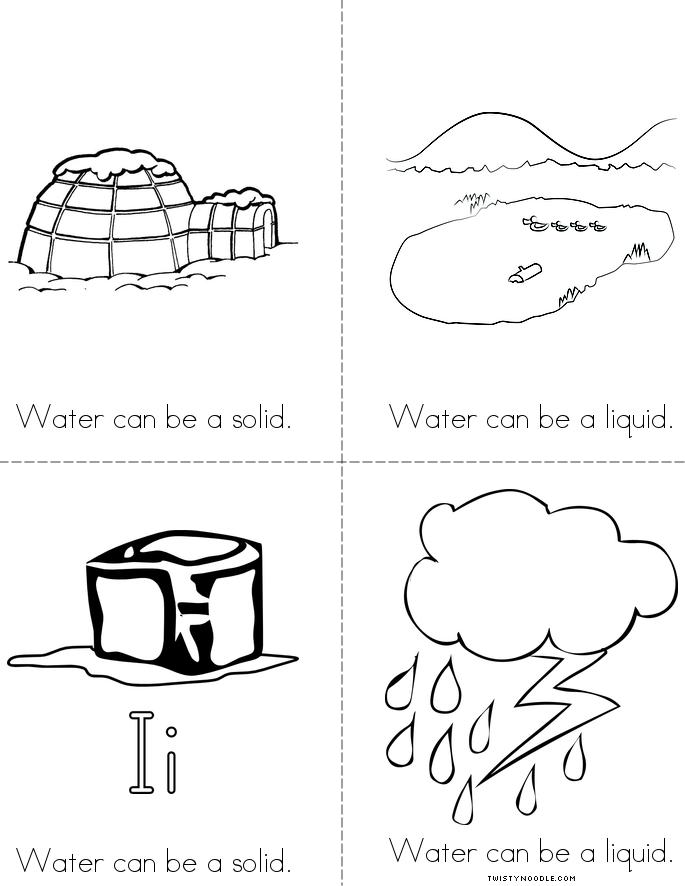 Solids Liquids And Gas Coloring Pages