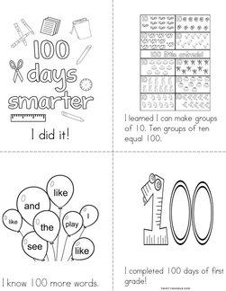 Happy 100 days of school! Book
