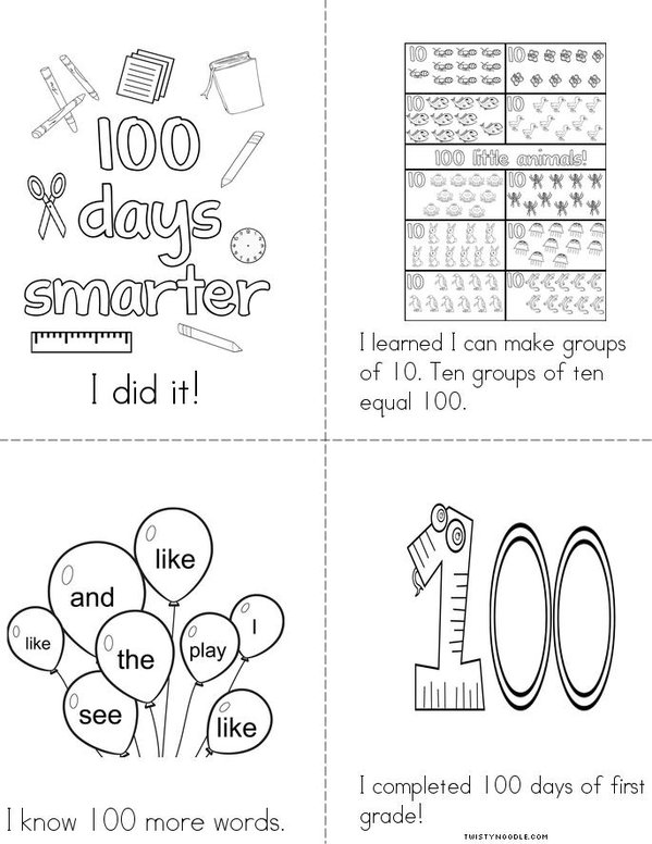 Happy 100 days of school! Mini Book