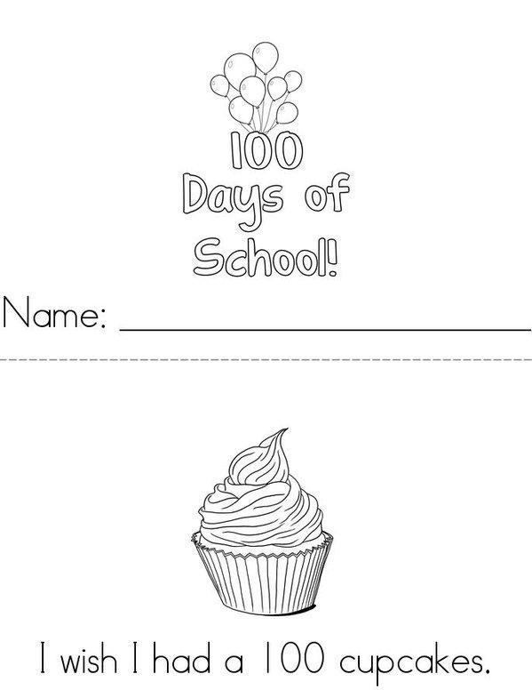 I wish I had a 100... Mini Book - Sheet 1