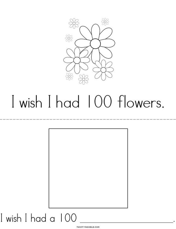 I wish I had a 100... Mini Book - Sheet 3