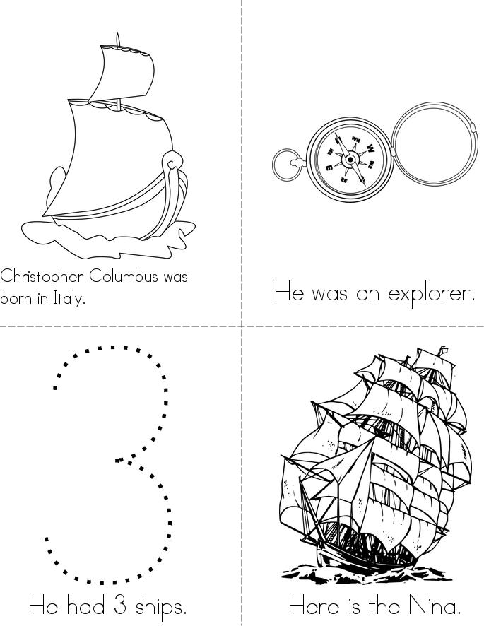 Printable Worksheets free columbus day worksheets : Columbus Day Mini Book - Twisty Noodle