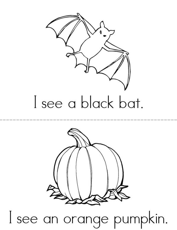 Sight word (see) Halloween Mini Book - Sheet 1