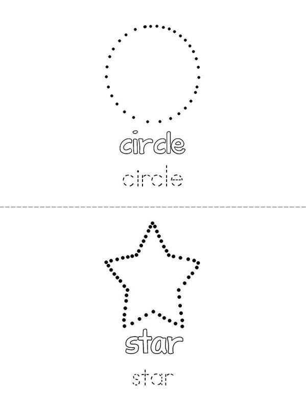 Trace and Color the Shapes Mini Book - Sheet 1