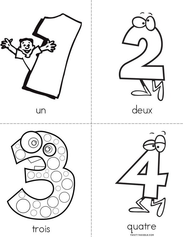 Numbers french book twisty noodle