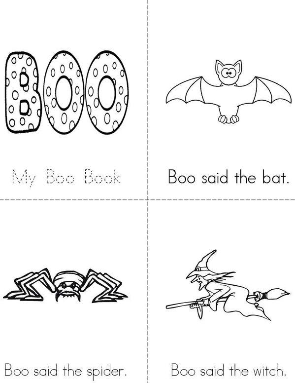 My Boo Book Mini Book - Sheet 1