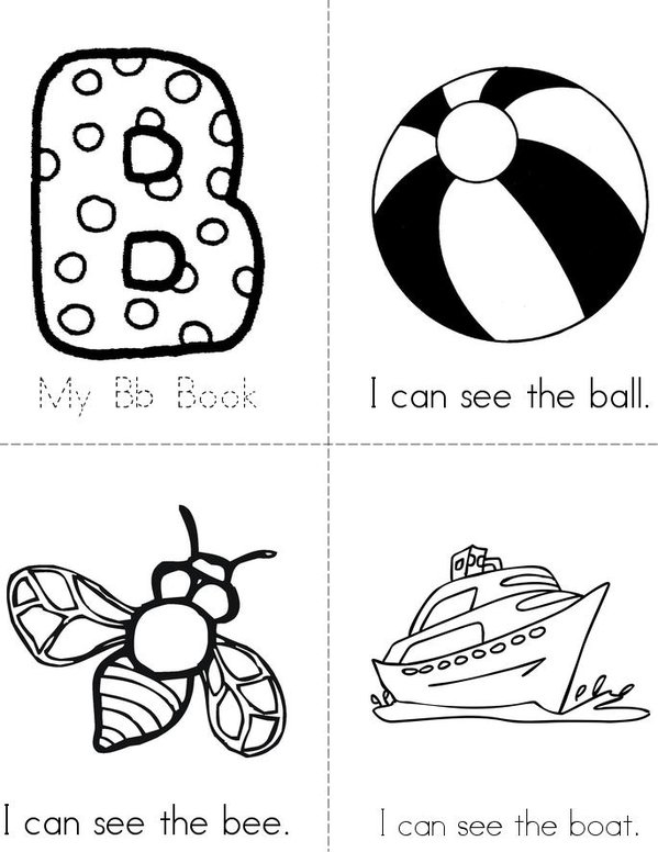 My Bb Book Mini Book - Sheet 1
