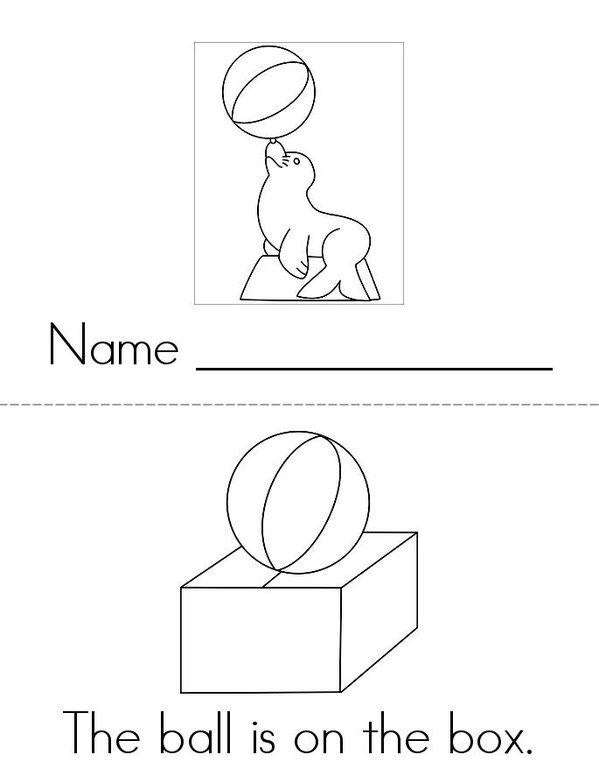 The Ball Mini Book - Sheet 1