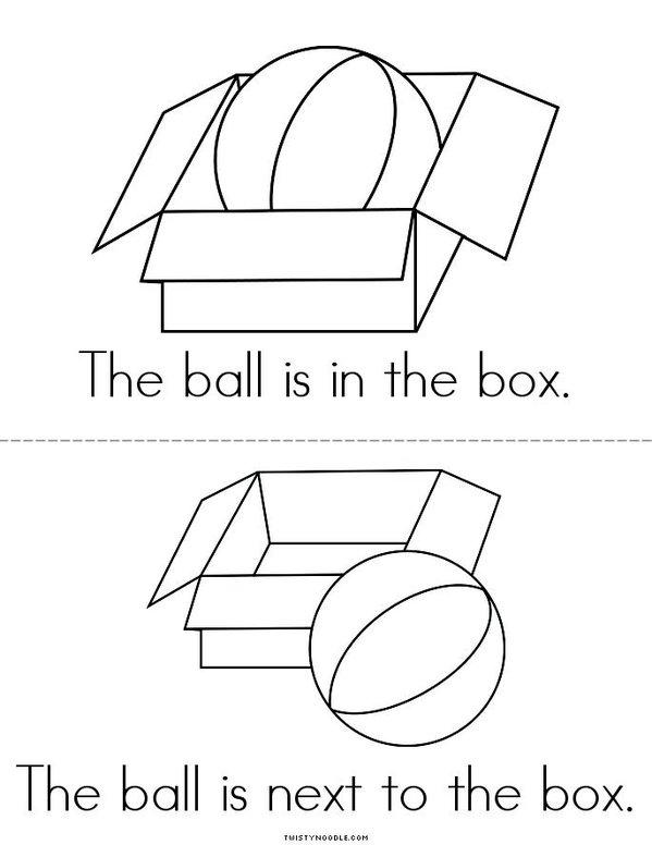 The Ball Mini Book - Sheet 2