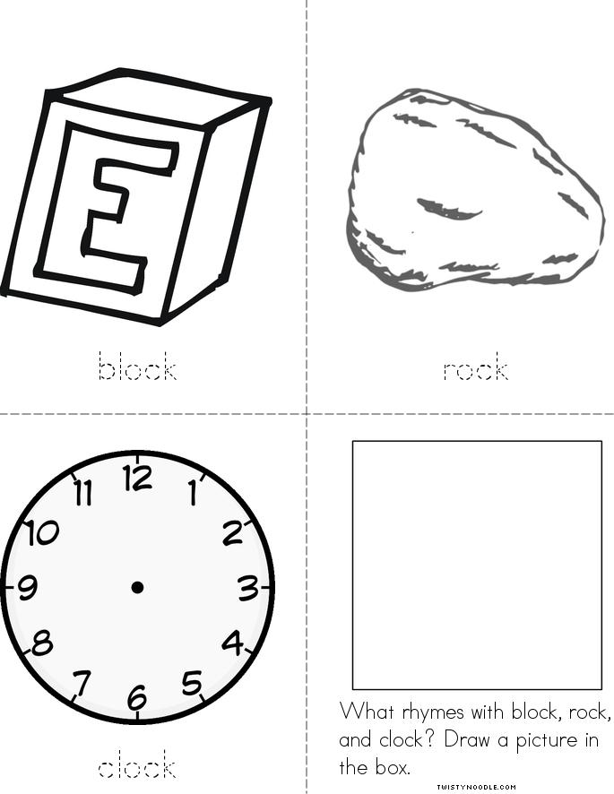 Free coloring pages of rhyming sight words for Rhyming coloring pages