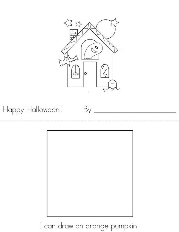Happy Halloween! Mini Book - Sheet 1