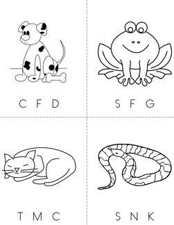 Circle the starting sound (animals) Book