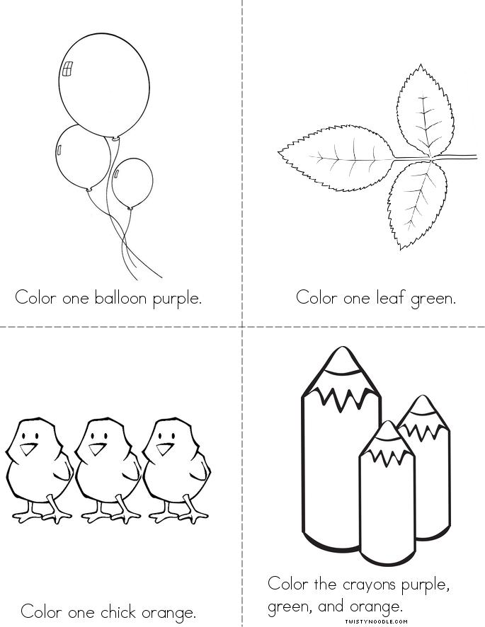 Color The Secondary Colors Book