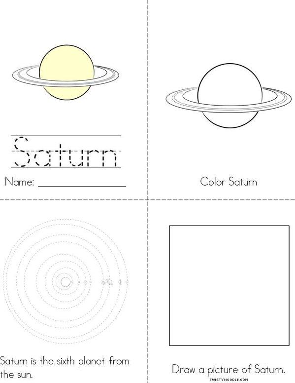 My Saturn Book Mini Book