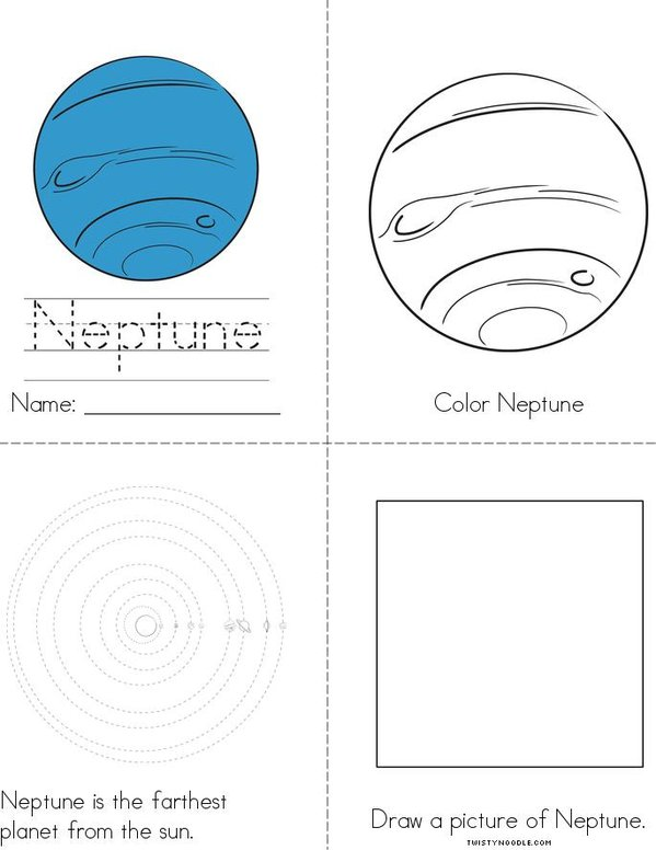 My Neptune Book Mini Book