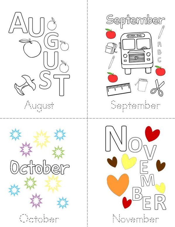 My Months of the Year Book Mini Book - Sheet 3