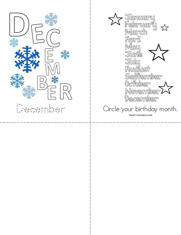 My Months of the Year Book Mini Book - Sheet 4