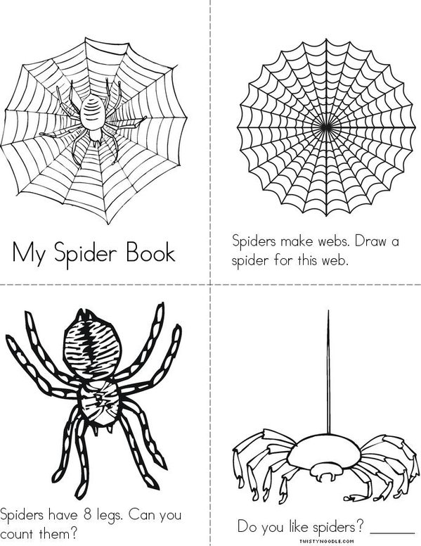 My Spider Book Mini Book